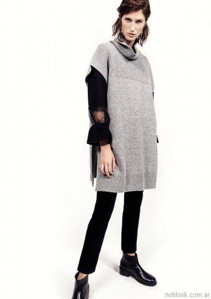 poncho tejido mujer Graciela Naum otoño invierno 2017