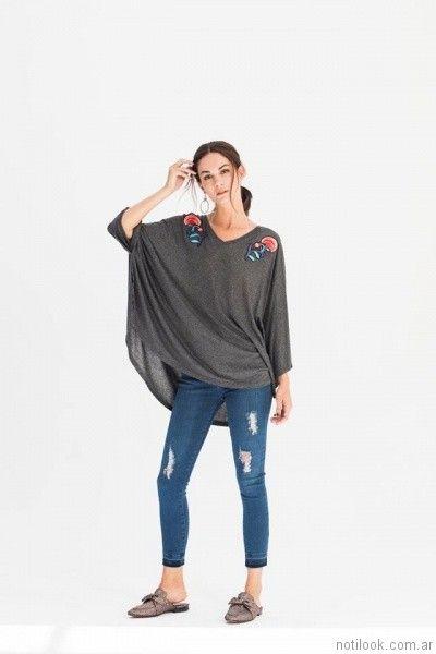 remera estilo poncho AG Store otoño invierno 2017