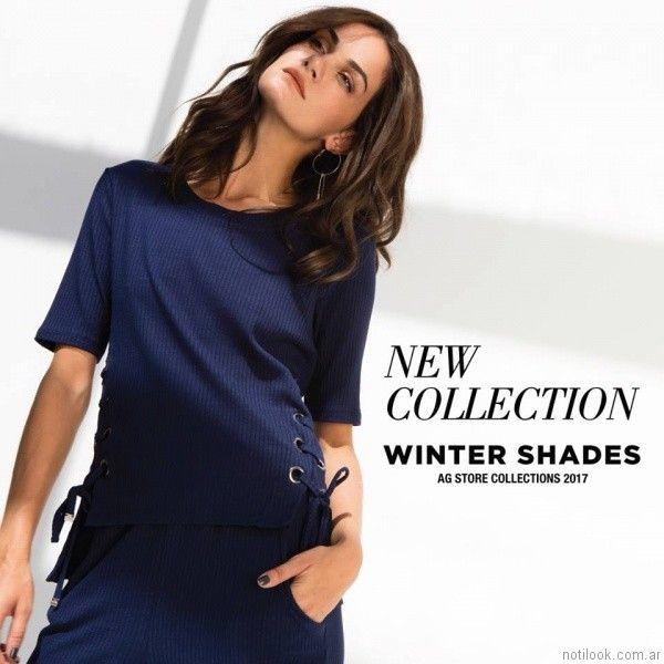remera y pantalon tejidos AG Store otoño invierno 2017