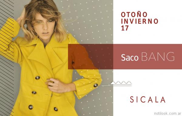 saco estilo blazer amarillo Sicala otoño invierno 2017