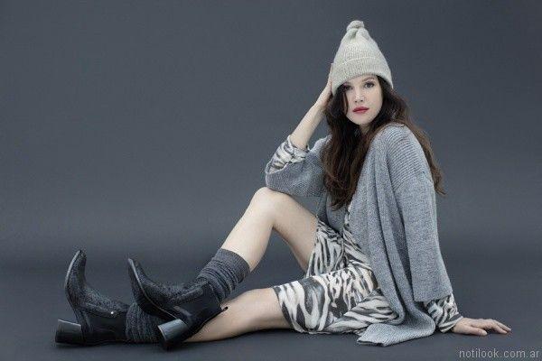 saco tejido mujer Mamyblue otoño invierno 2017