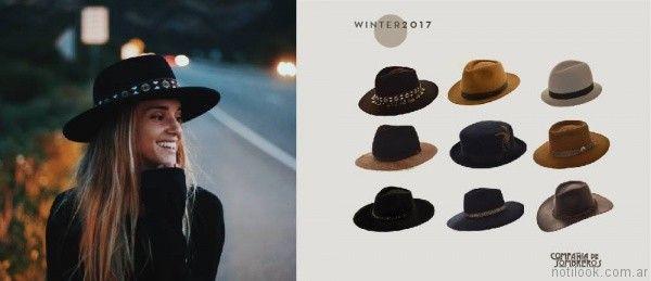 825dfcce35676 sombreros y galeras para mujer de fieltro Compañia de sombreros otoño  invierno 2017