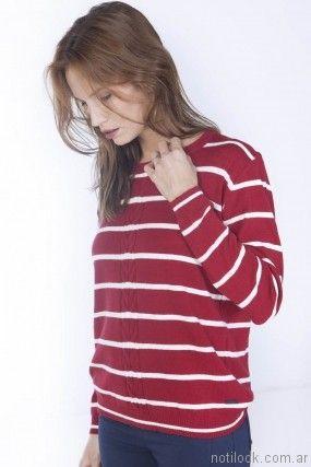 sweater a rayas mujer Nuss tejidos invierno 2017