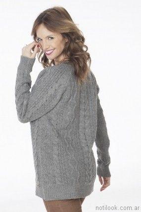 sweater gris mujer Nuss tejidos invierno 2017