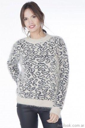 sweater lana estampado Nuss tejidos invierno 2017