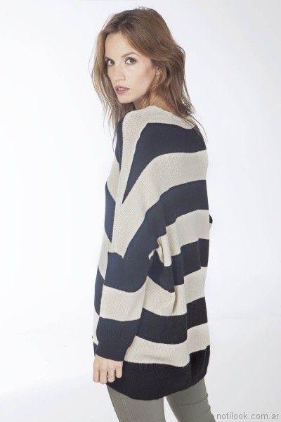 sweater mujer rayado Nuss tejidos invierno 2017