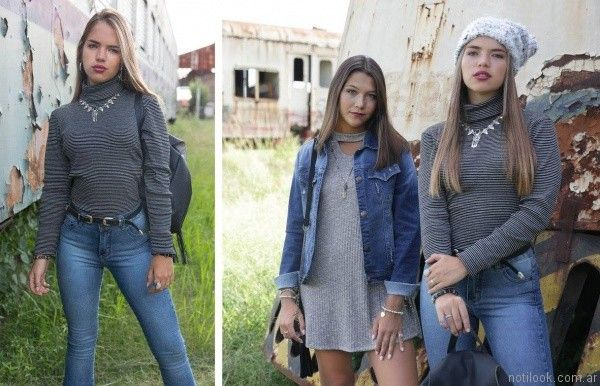 vestidos cortos para el dia teenager Doll Fins otoño invierno 2017