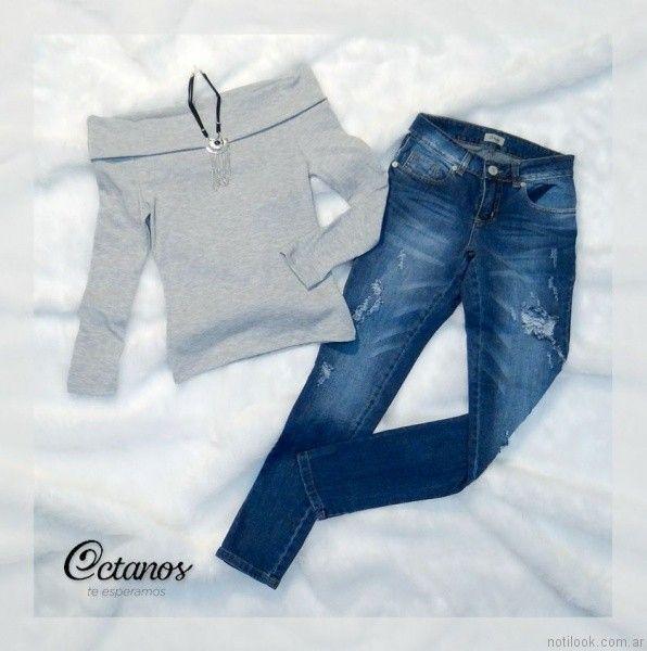 Octanos Jeans con roturas otoño invierno 2017