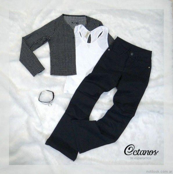Octanos Jeans negro otoño invierno 2017