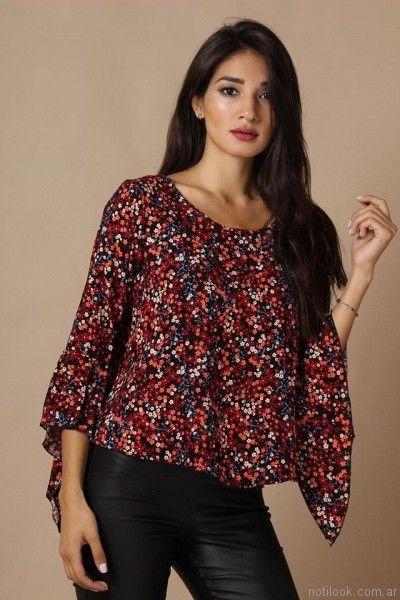 blusa mangas oxford Destino Collection otoño invierno 2017
