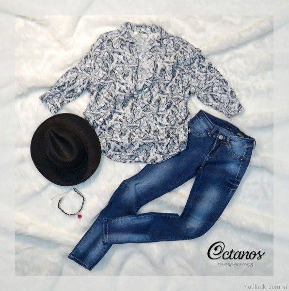 blusas casuals Octanos Jeans otoño invierno 2017