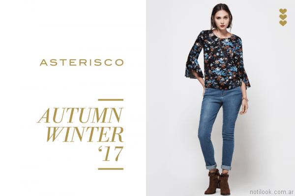 blusas estampadas asterisco otoño invierno 2017