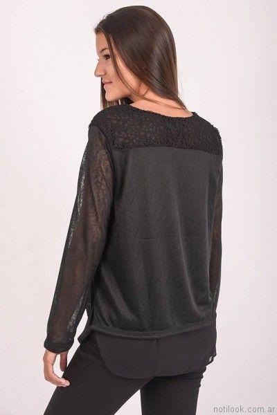 blusas para señoras mangas largas Pablo Mei otoño invierno 2017