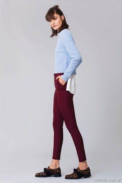 calzas con bolsillo Delaostia otoño invierno 2017