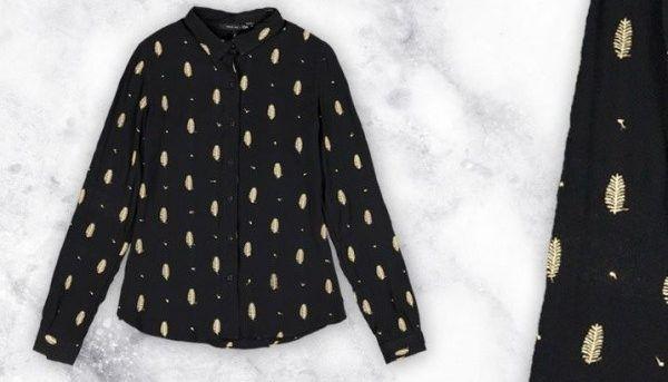 camisa estampada mujer mangas largas Oassian otoño invierno 2017
