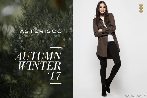 camisas largas mujer asterisco otoño invierno 2017