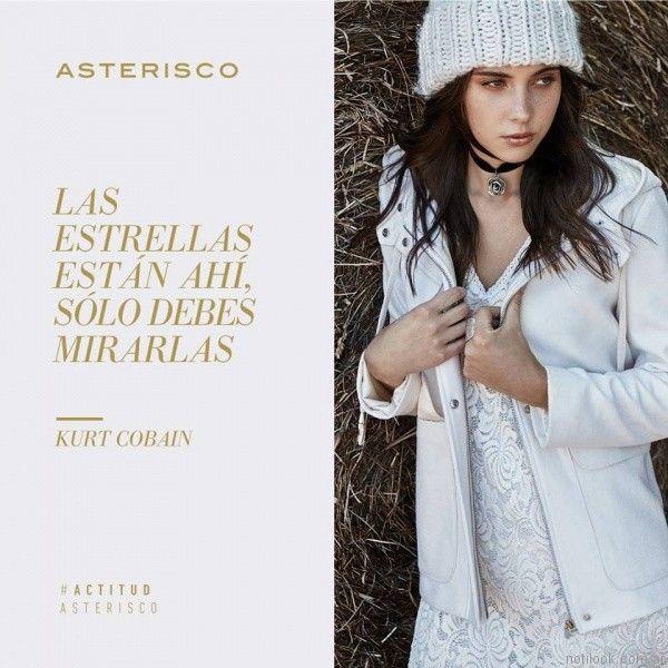 campera con capucha asterisco otoño invierno 2017