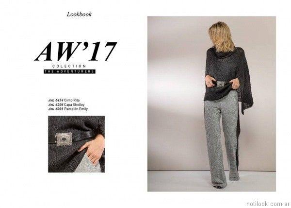 capa estilo poncho asimetrico tejido Marcela Pagella otoño invierno 2017