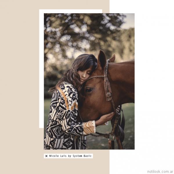cardigan largo tejido en lana System Basic otoño invierno 2017