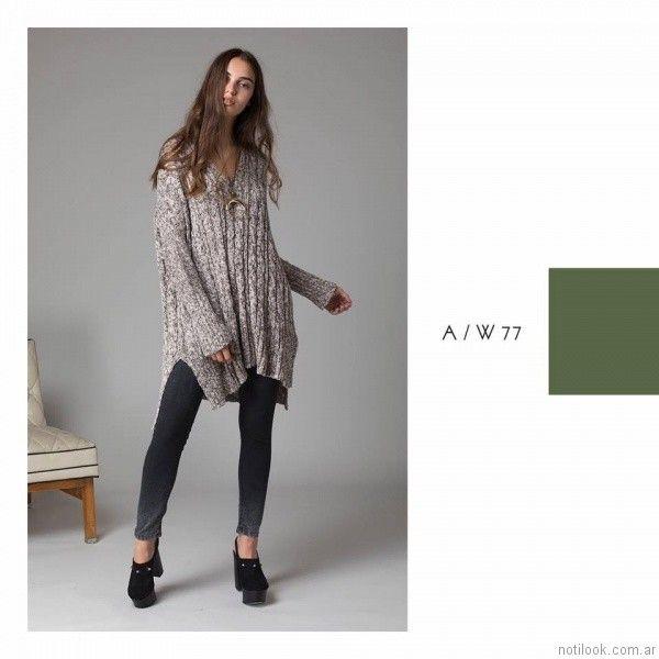 jeans chupin nevado Abstracta otoño invierno 2017
