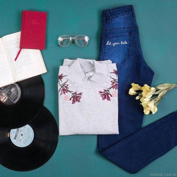 jeans clasico look Abstracta otoño invierno 2017