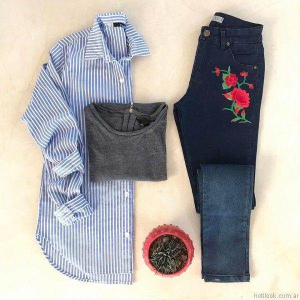 jeans con estampas Tiza otoño invierno 2017