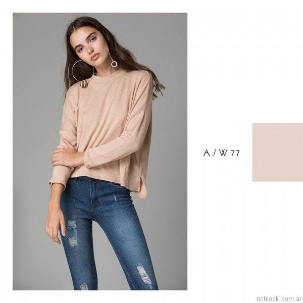 jeans con roturas Abstracta otoño invierno 2017