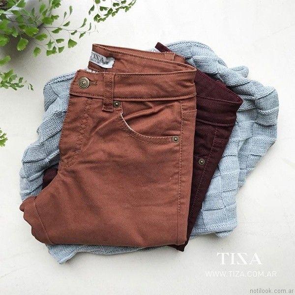 jeans de colores Tiza otoño invierno 2017