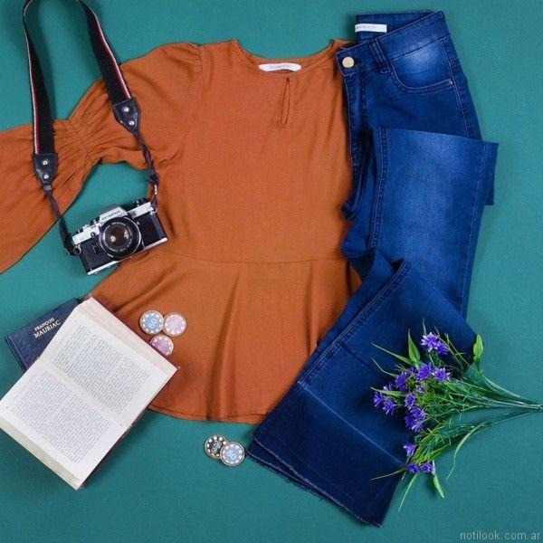 jeans oxford casual Abstracta otoño invierno 2017