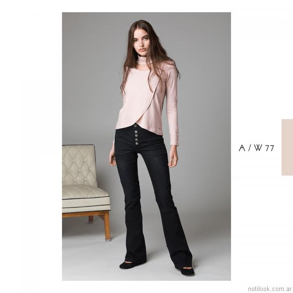 jeans oxford negro Abstracta otoño invierno 2017