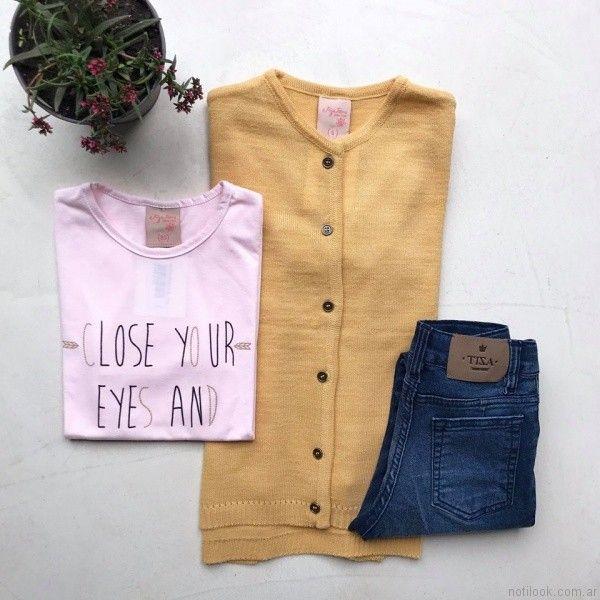 outfit casual con jeans Tiza otoño invierno 2017