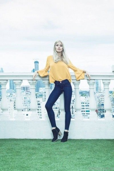 pantalon chupin azul Scottkaen Jeans invierno 2017
