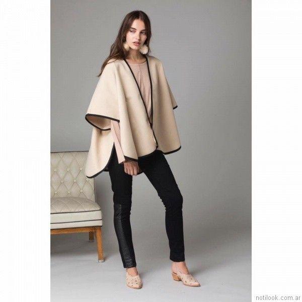pantalon chupin con recortes engomados Abstracta otoño invierno 2017