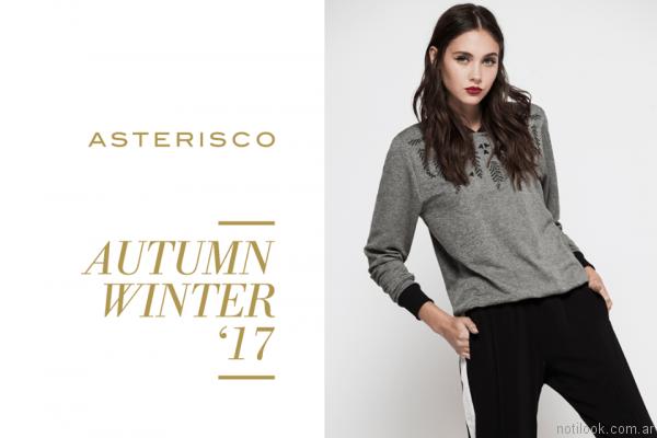 pantalon sporty chic asterisco otoño invierno 2017