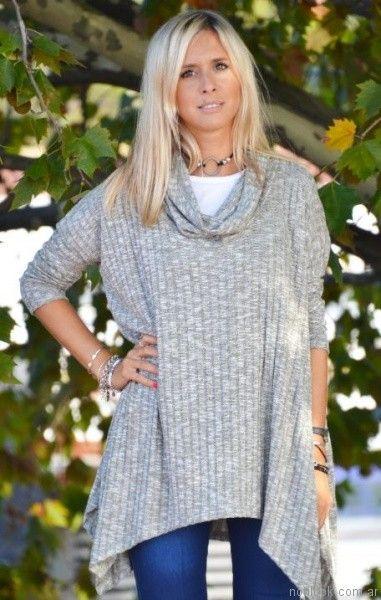 poleron asimetrico tejido mujer Agarrrate Catalina otoño invierno 2017