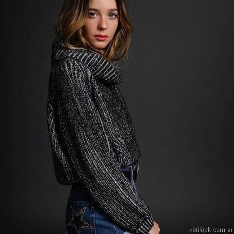 poleron tejido mujer lovely denim otoño invierno 2017