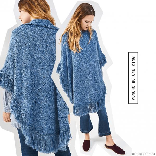 poncho tejido mujer System Basic otoño invierno 2017