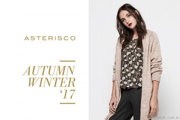 saco largo tejido asterisco otoño invierno 2017