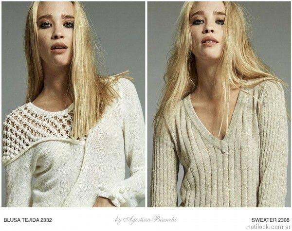 sweater de lana Agostina Bianchi invierno 2017