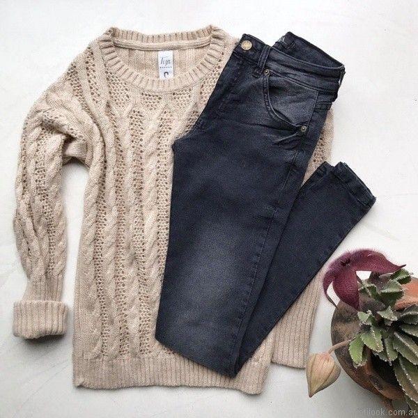 sweater de lana calado Tiza otoño invierno 2017