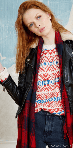 sweater estampado mujer Pepe Jeans invierno 2017