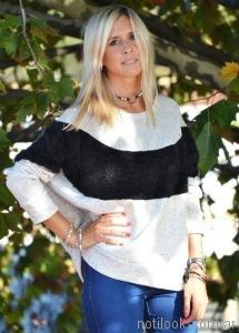 sweater lana pelo largo mujer Agarrrate Catalina otoño invierno 2017