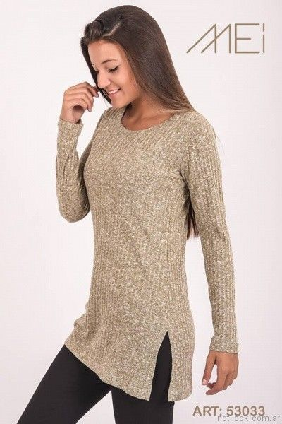sweater largo de hilo Pablo Mei otoño invierno 2017