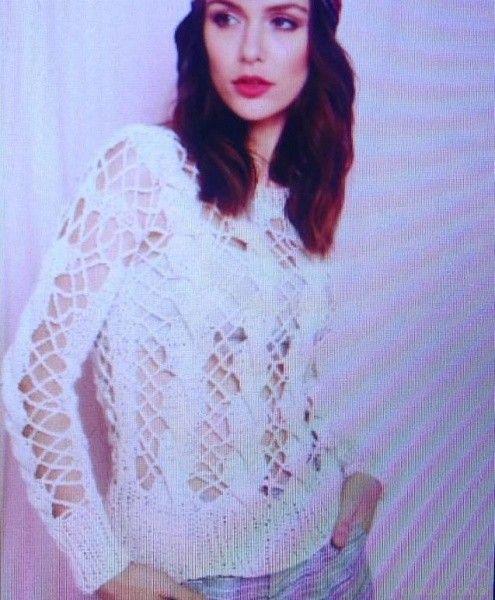 Florencia Llompart sweater tejido calado Florencia Llompart