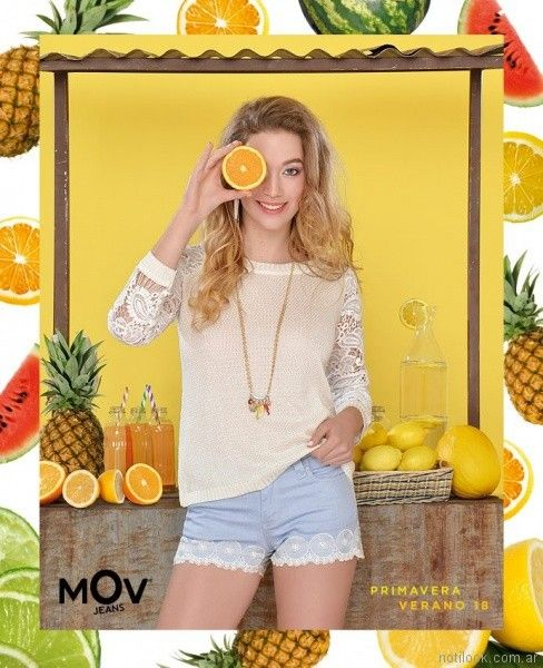 MOV jeans detalles de puntillas y encaje primavera verano 2018