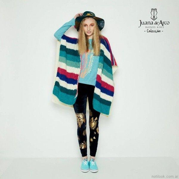 Ponchos para mujer Juana de arco invierno 2017