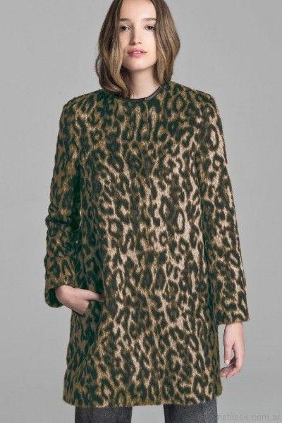 abrigo animal print mujer Giesso mujer otoño invierno 2017