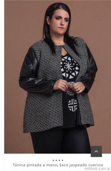 abrigos para mujer Loren talles grandes otoño invierno 2017