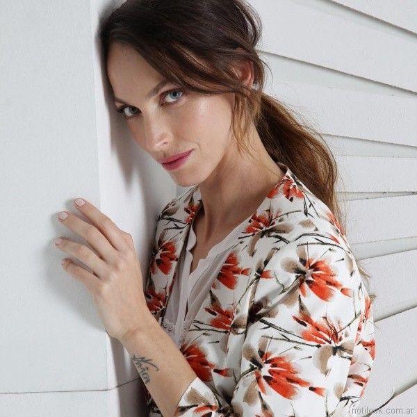 blazer estampado mujer primavera verano 2018 ETAM