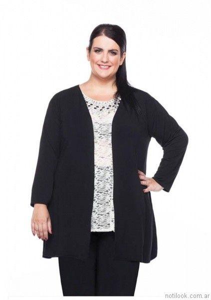 blusa de guipur Loren talles grandes otoño invierno 2017